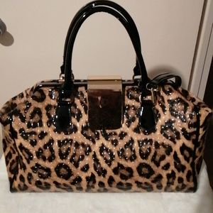 Leopard Print Large Purse/Weekender